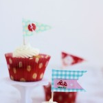 Fabric Cupcake Flags