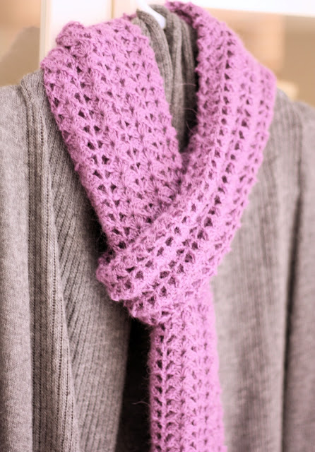Free Crochet Patterns For Christmas Scarves : Crocheted Scarf {Free Pattern} - A Spoonful of Sugar