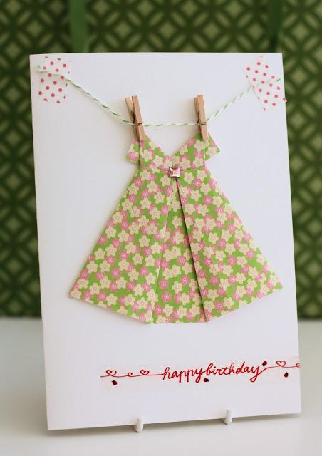 Origami+dress+card+1