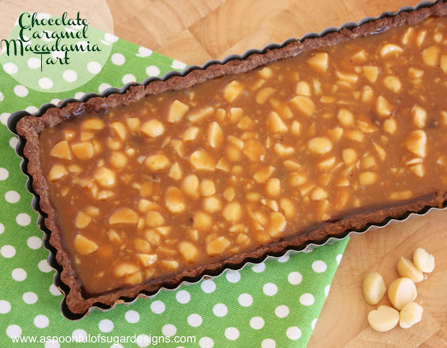 Chocolate Caramel Macadamia Tart - A Spoonful of Sugar