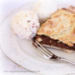 Plum Pie with Pavlova Ice-Cream