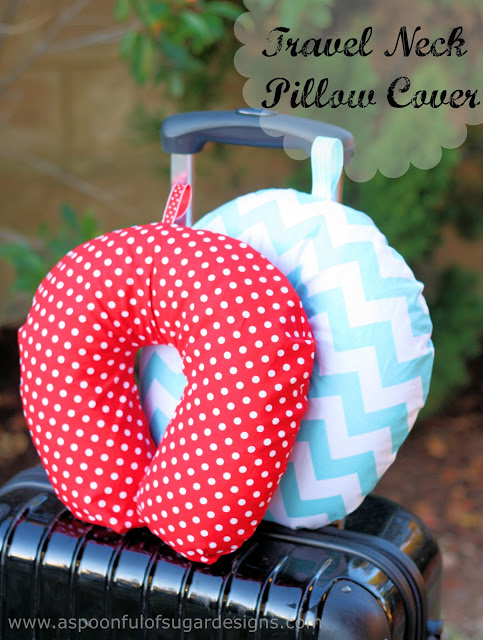Travel Neck Pillow Cover A Spoonful Of Sugar