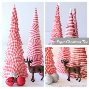 Paper Christmas Tree by A Spoonful of Sugar