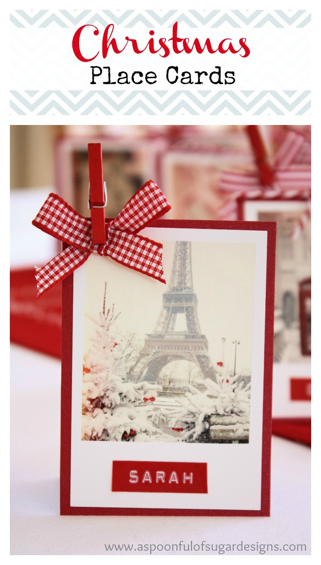 Christmas Place Cards A Spoonful Of Sugar