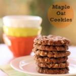 Maple Oat Cookies