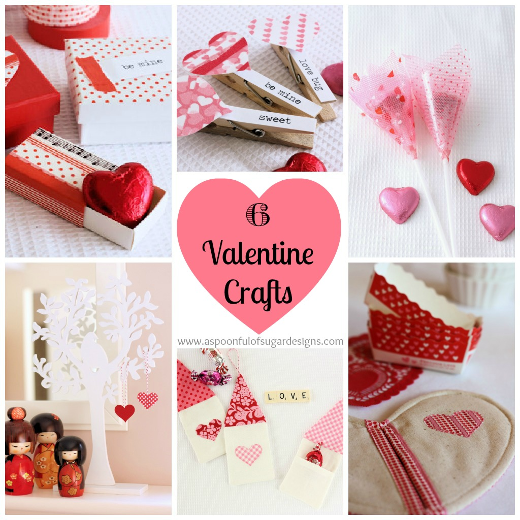 6 valentine crafts a spoonful of sugar for Craft ideas for valentines day