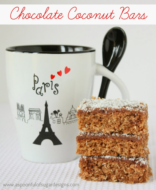 Chocolate Coconut Bars - A Spoonful of Sugar