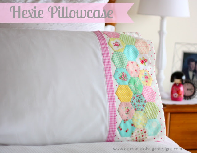 colorful hexagonal shaped decorations on pillowcase