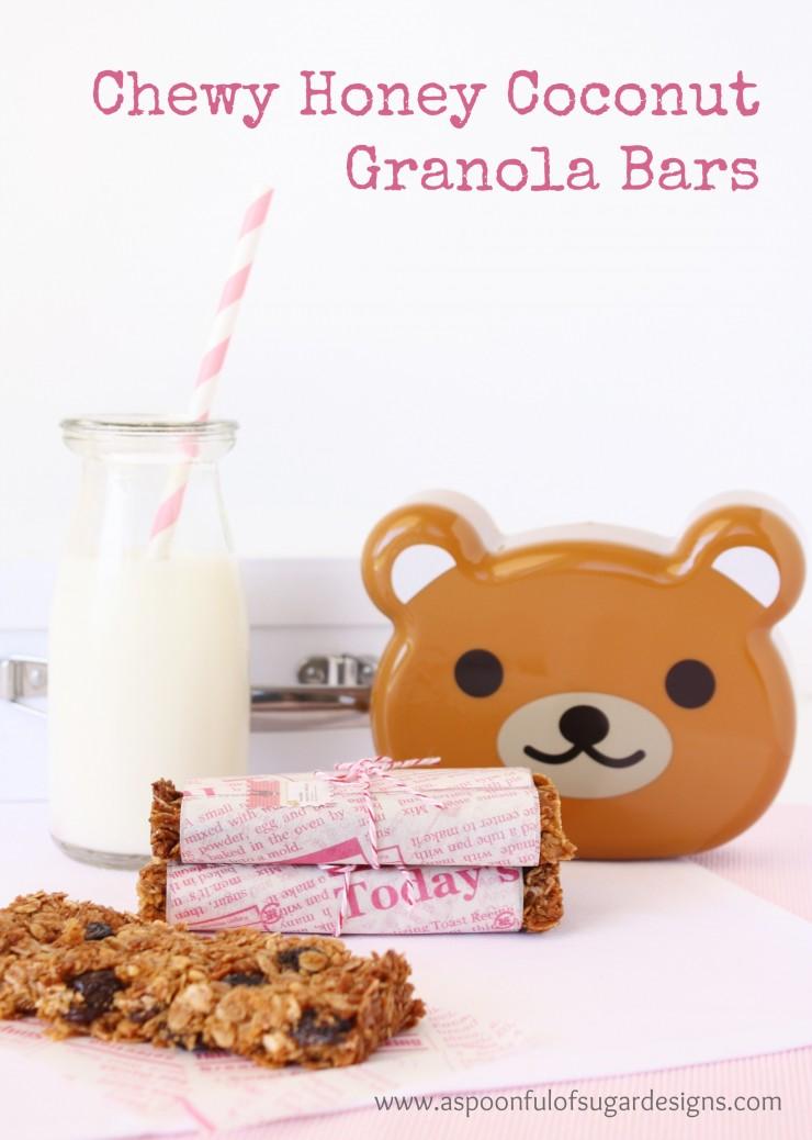 Chewy Honey Coconut Granola Bars 1