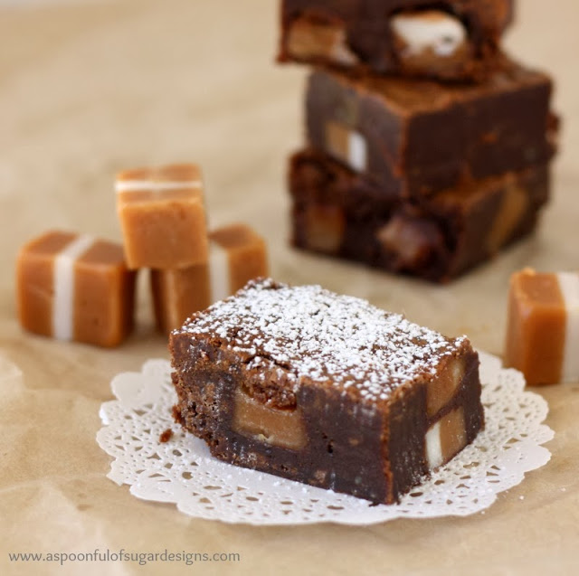 Chocolate Caramel Brownies - A Spoonful of Sugar