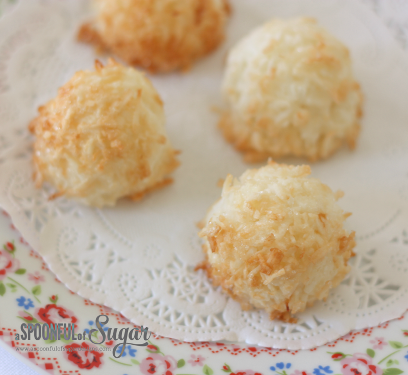 Easy Coconut Macaroons - A Spoonful of Sugar