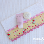 Face Washer with Crochet Trim