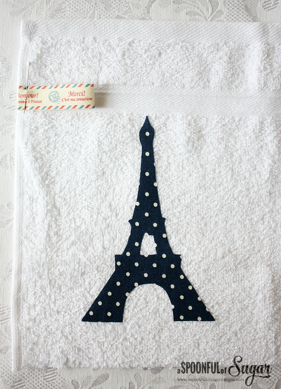 Appliqué Eiffel Tower