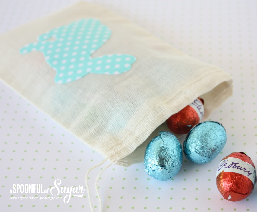 No Sew Easter Bunny pouch by A Spoonful of Sugar