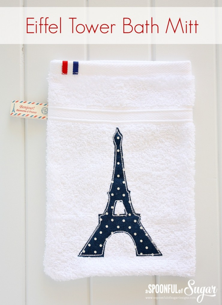 Eiffel Tower Bath Mitt