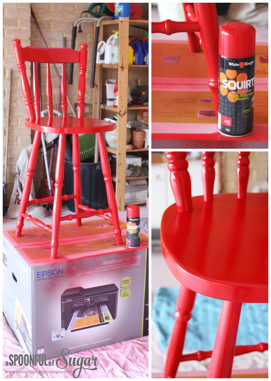 Paint a wooden chair