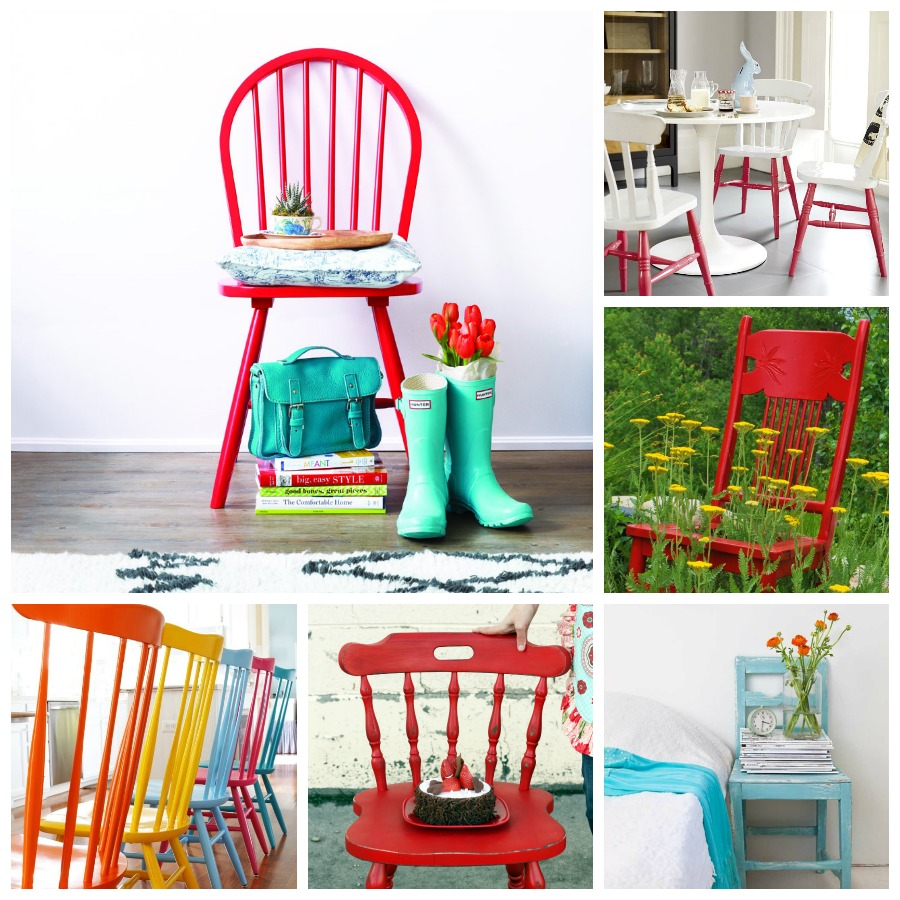 Painted Chair Collage
