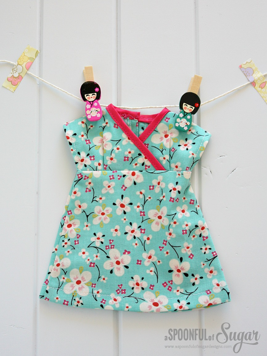 Kimono Dress made from My Rag Doll