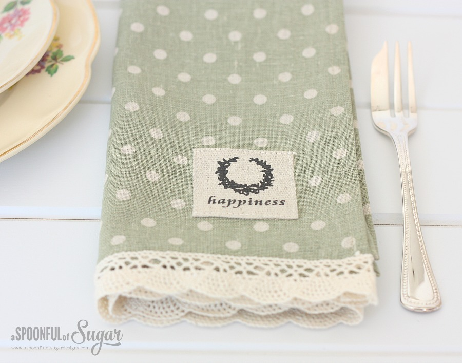 Make Your Own Linen Napkins - A Spoonful of Sugar