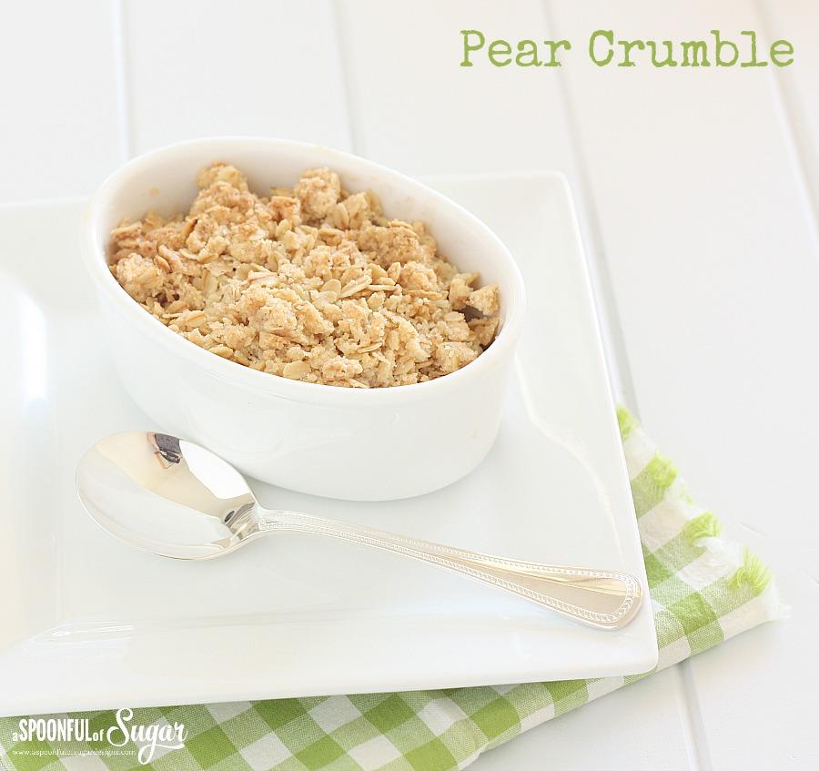 Delicious Pear Crumble Dessert Recipe