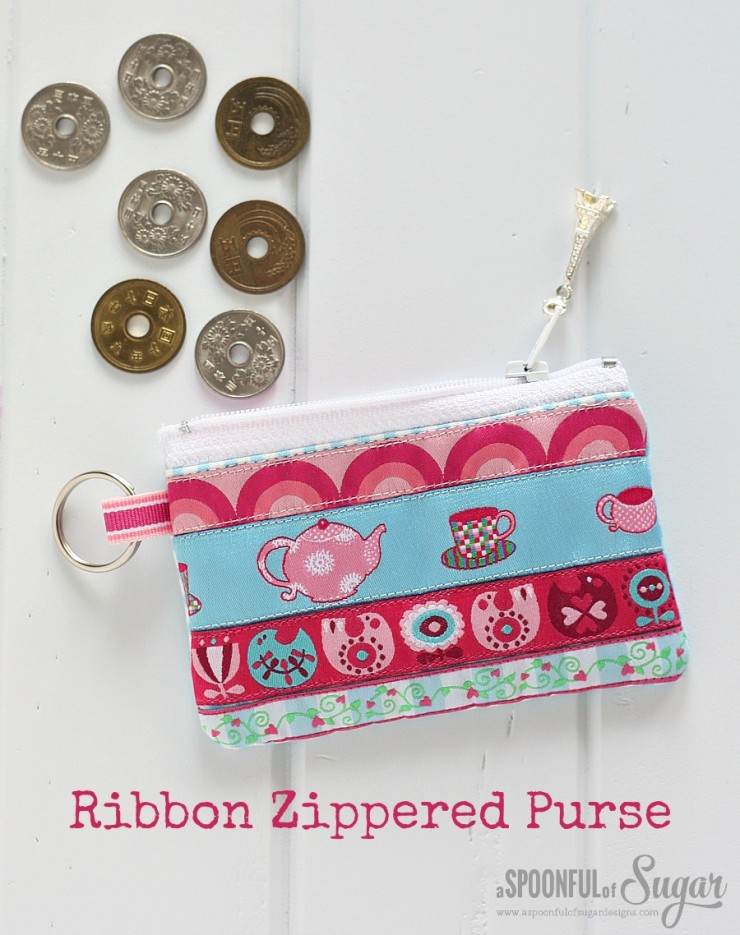 Ribbon Zippered Pouch