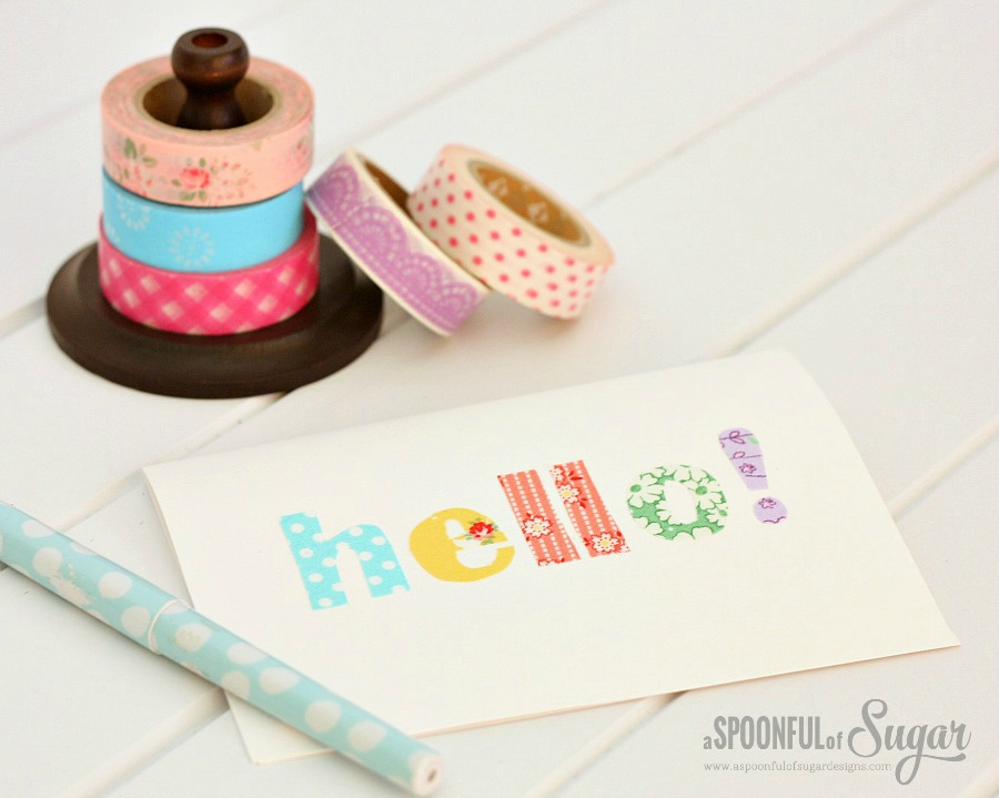 Make card using fabric scraps