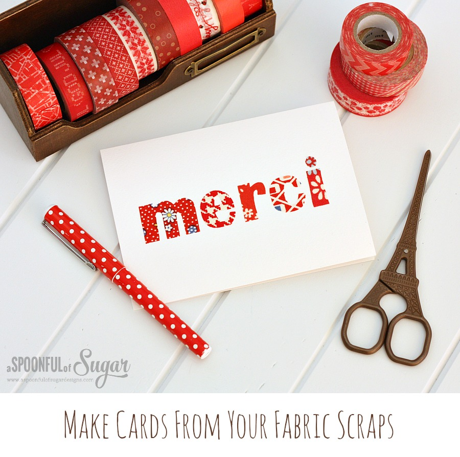 Make cards from your fabric scraps