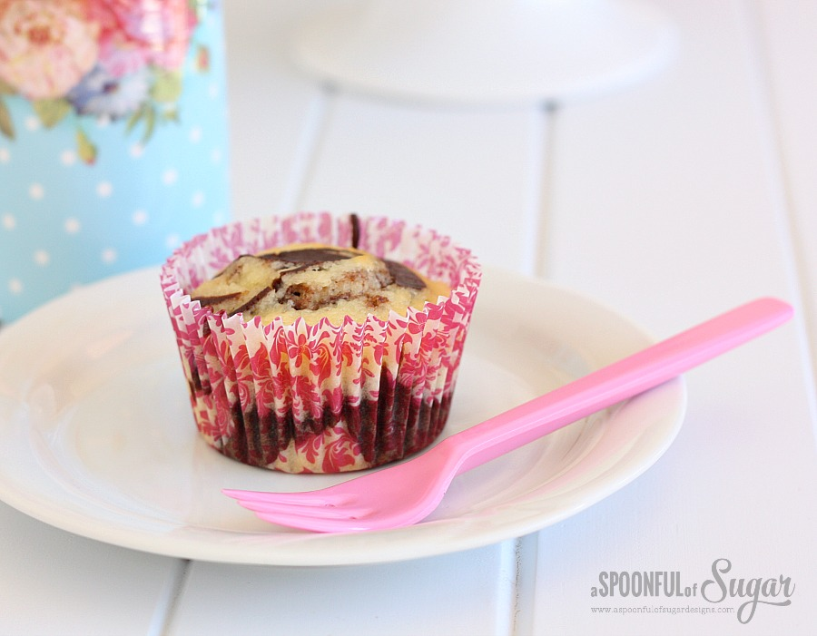 Marble Cupcake Recipe from A Spoonful of Sugar