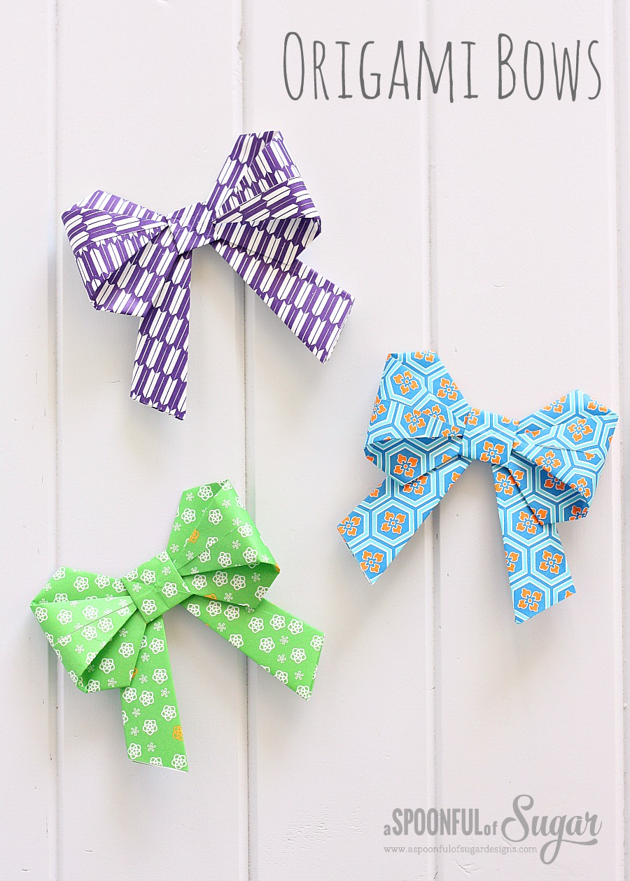 Origami Bow Folding Instructions | 1258x900