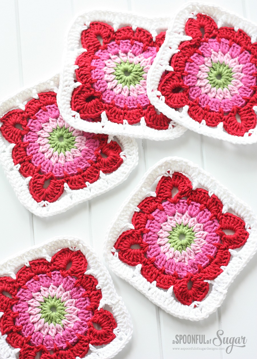 Crochet Granny Square Rug Patterns : Crochet Rugs - A Spoonful of Sugar