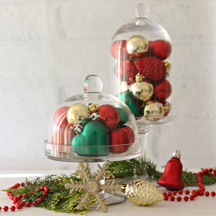 Display Baubles in Cloche