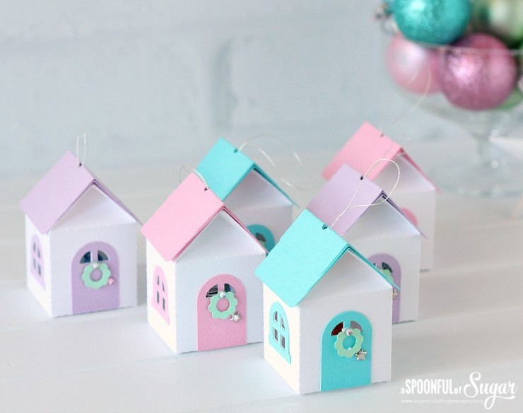 3D Christmas House Ornaments
