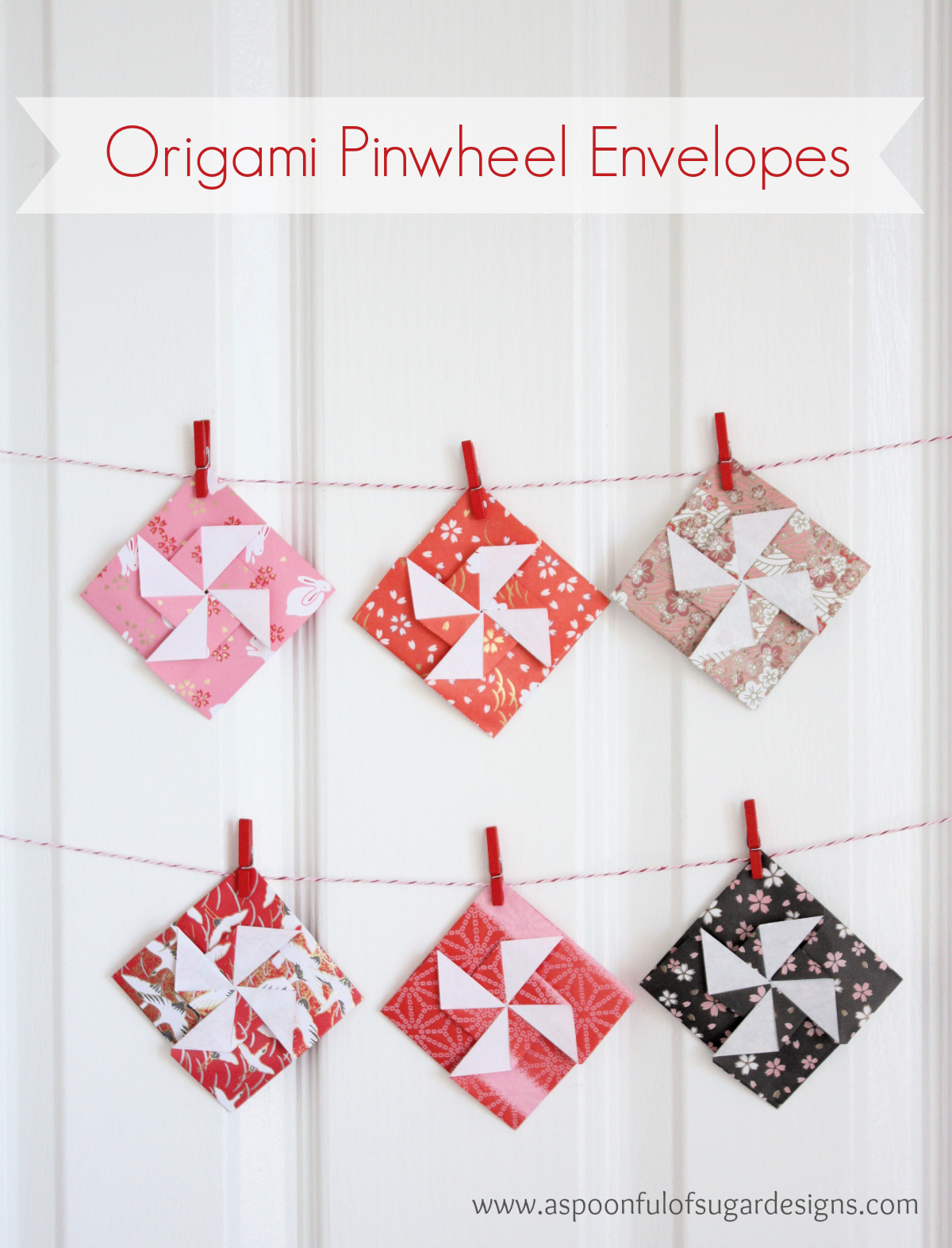 Origami Pinwheel Envelopes 3