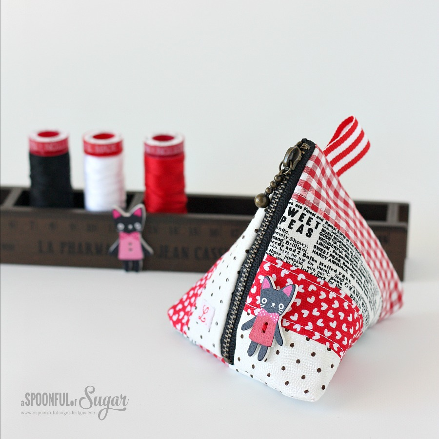 Triangle Coin Pouch - A Spoonful of Sugar
