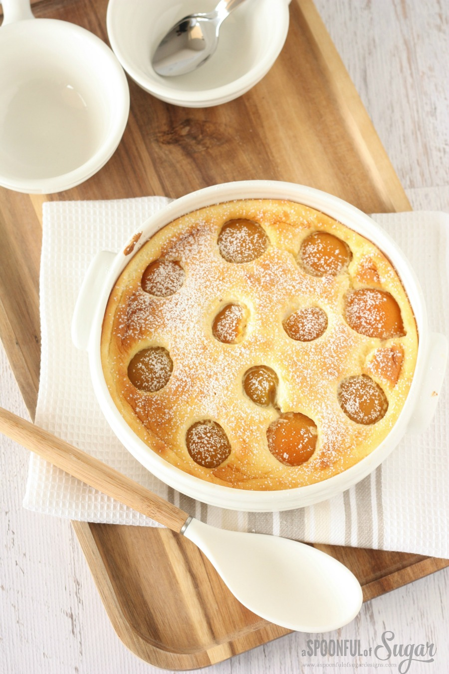 Apricot Clafouti Recipe by A Spoonful of Sugar