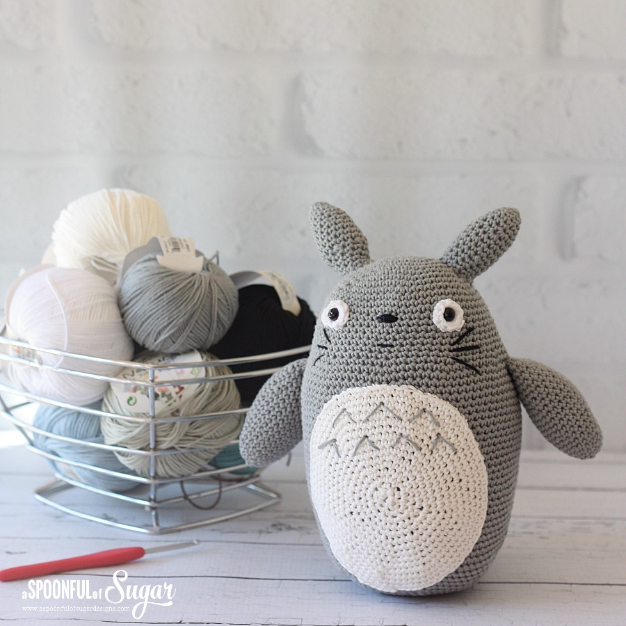Crochet Totoro made by A Spoonful of Sugar