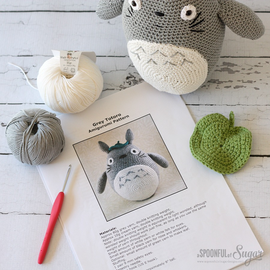 Totoro » 53stitches » Free Amigurumi and Crochet Patterns and ... | 900x900