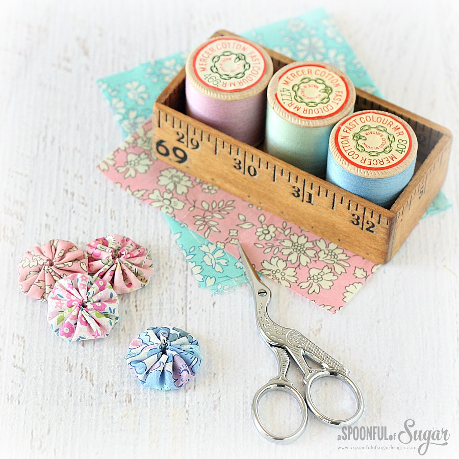 Yoyo's made from Liberty fabric