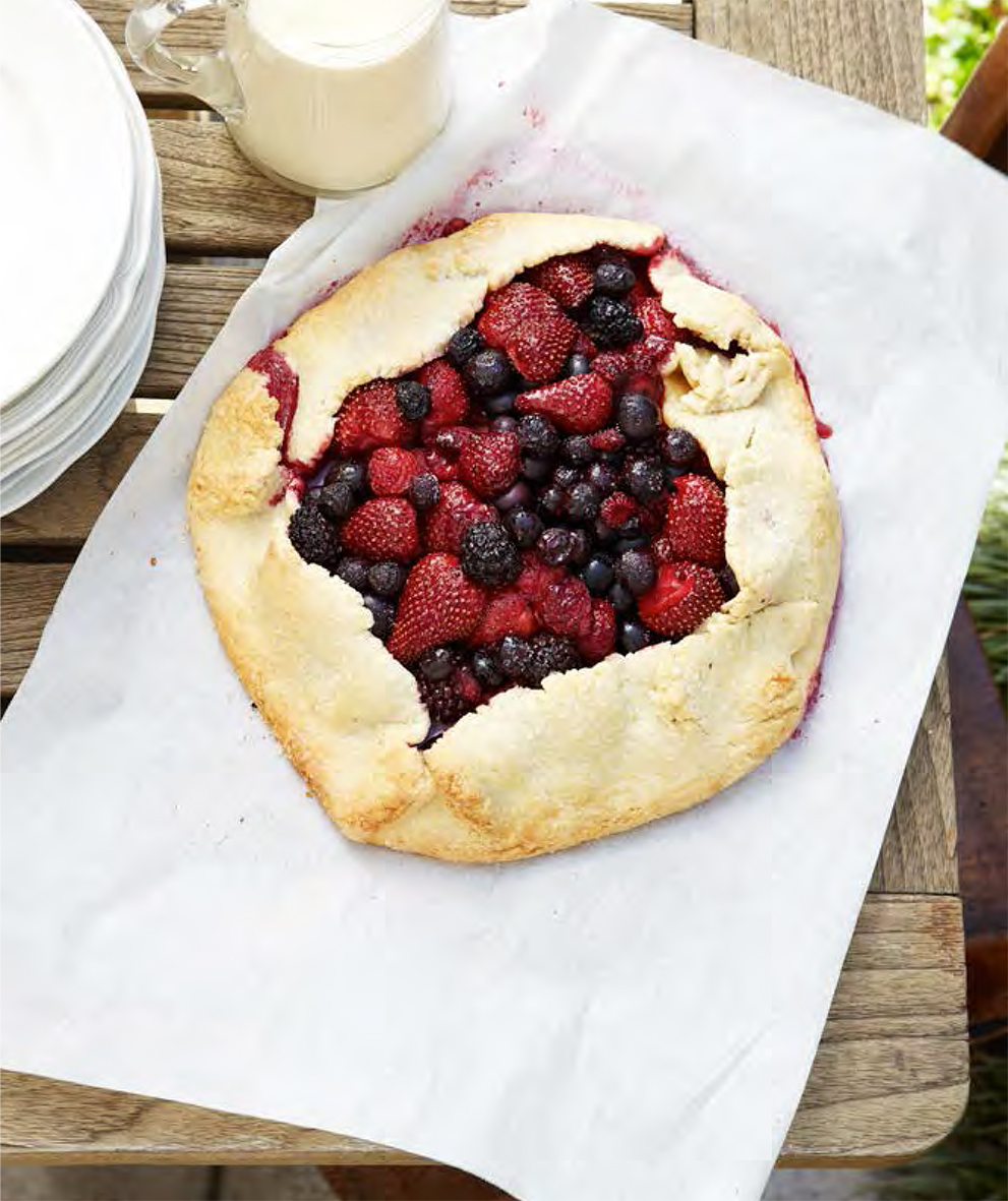 Free Form Berry Tart