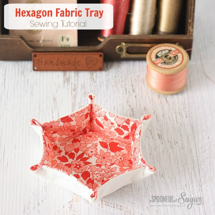 Hexagon Fabric Tray by A Spoonful of Sugar Designs