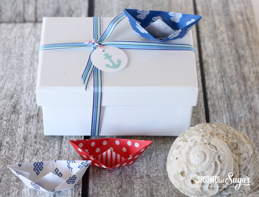 Nautical Gift Wrapping Ideas by A Spoonful of Sugar