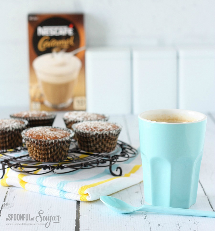 Caramel Latté Cupcakes Recipe using  NESCAFÉ Café Menu Caramel Latté