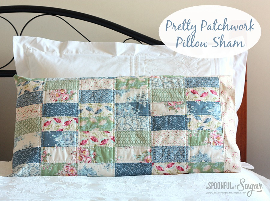 Pretty Patchwork Pillow Sham Pattern by A Spoonful of Sugar on Etsy  https://www.etsy.com/shop/aspoonfullofsugar