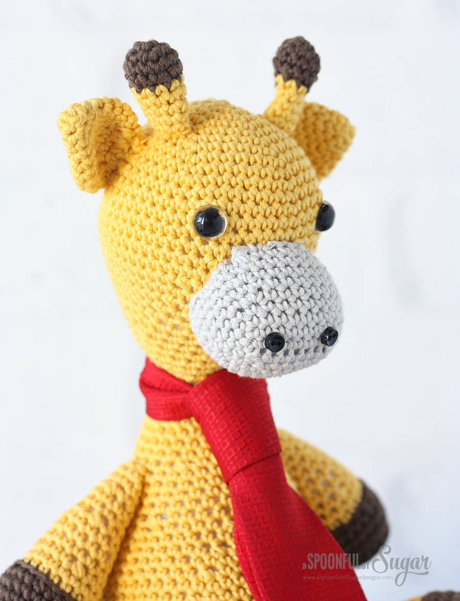 Gerald Giraffe crocheted by A Spoonful of Sugar from a pattern from Zoomigurumi 4