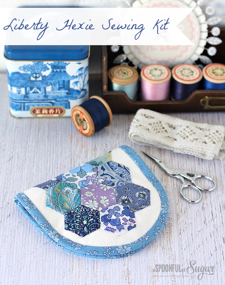 Liberty Hexie Sewing Kit Pattern