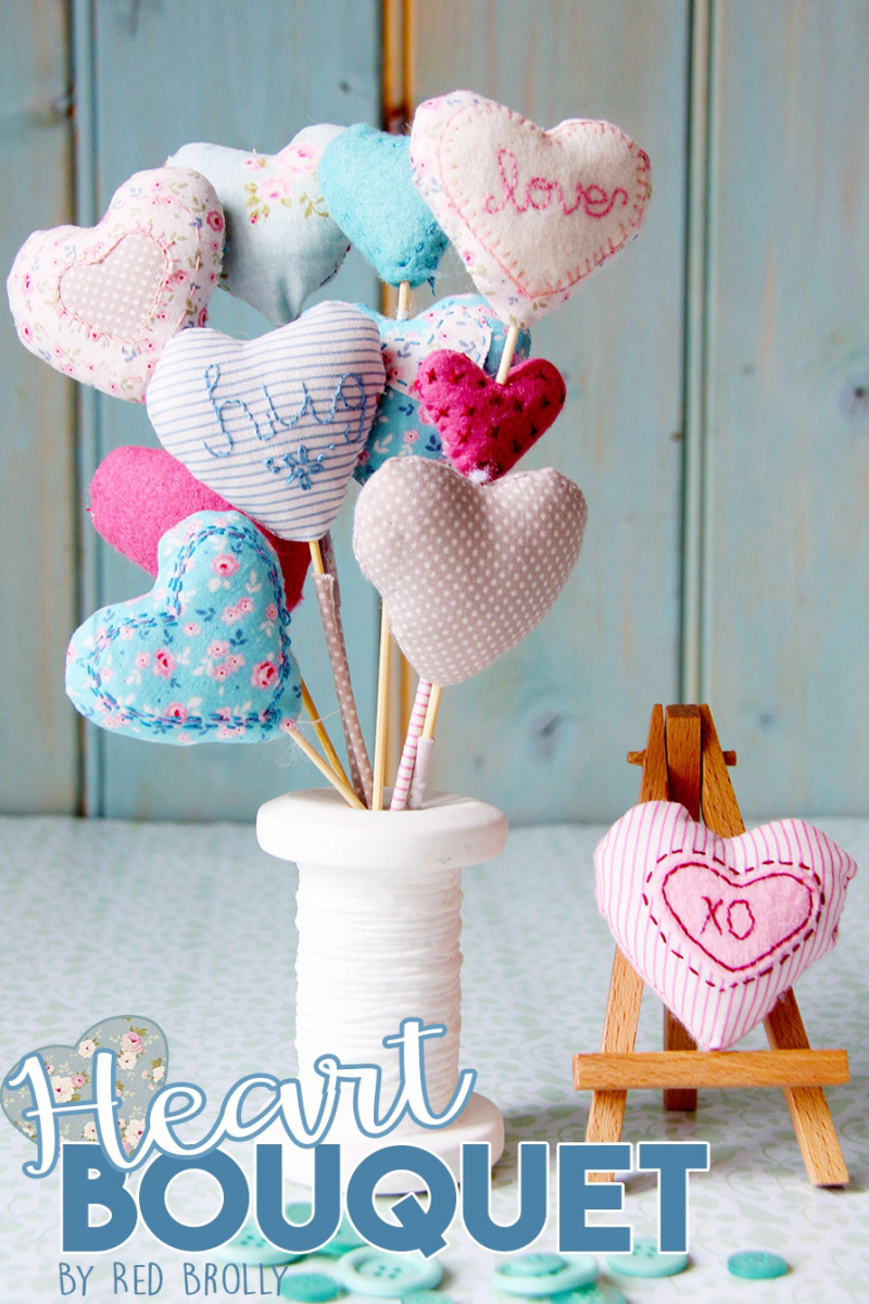 Tilda Sewing Projects - Heart Bouquet by Red Brolly