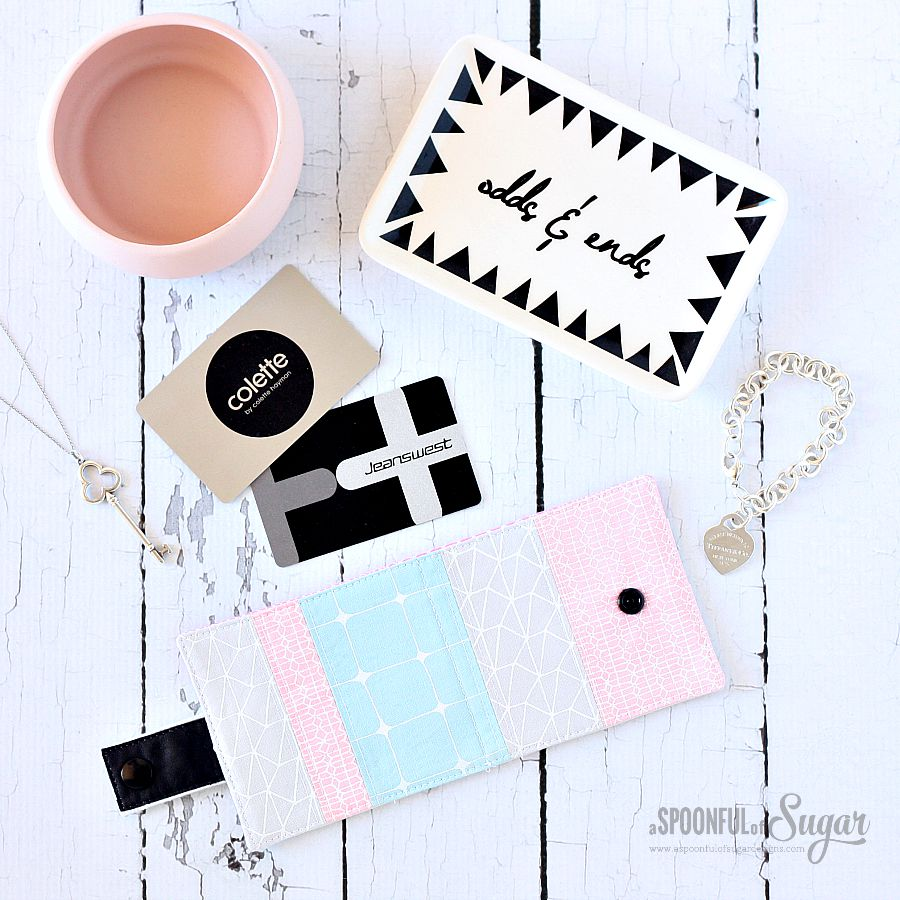 Loyalty Card Wallet Sewing Tutorial by A Spoonful of Sugar Designs