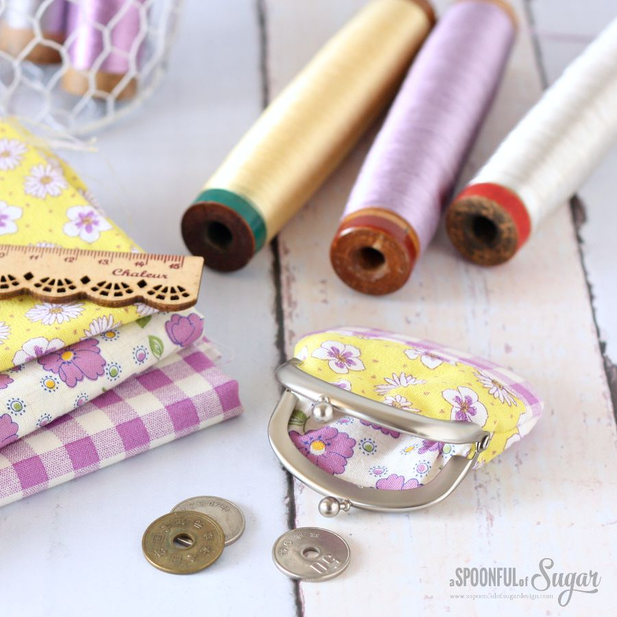 Patchwork Coin Purse - made by A Spoonful of Sugar using a Zakka Workshop kit.
