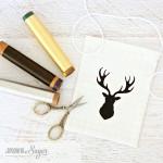Deer Silhouette Drawstring Gift Bags