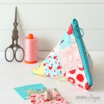 Triangle Patchwork Pouch